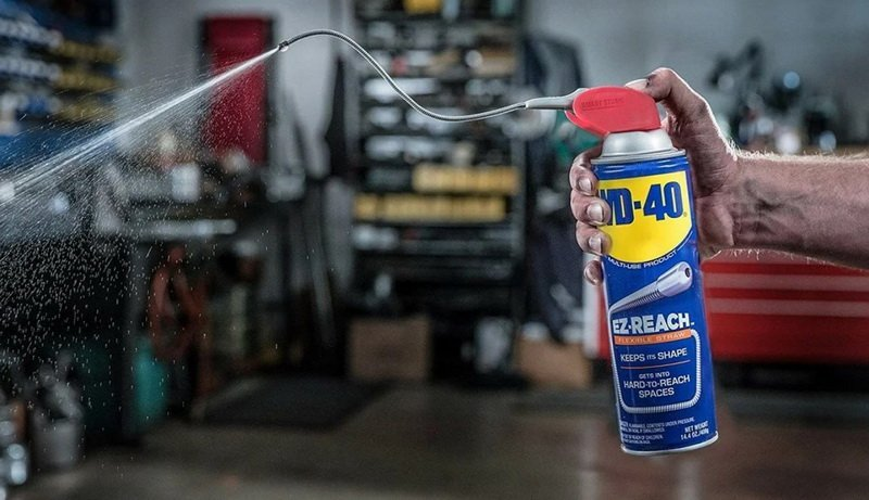 How to remove slime with WD-40